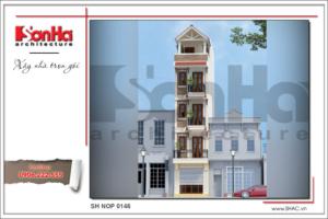 BÌA Mẫu thiết kế nhà ống kiến trúc Pháp tại Hà Nội sh nop 0146
