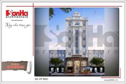 BÌA Mẫu Thiết kế kiến trúc tòa nhà văn phòng tại Sài Gòn sh vp 0031