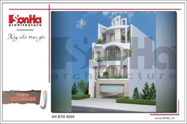 BÌA Mẫu Thiết kế kiến trúc biệt thự hiện đại tại Hà Nội sh btd 0059
