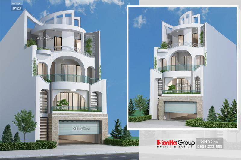 Biệt thự hiện đại 4 tầng mặt tiền 11m rộng 250m2