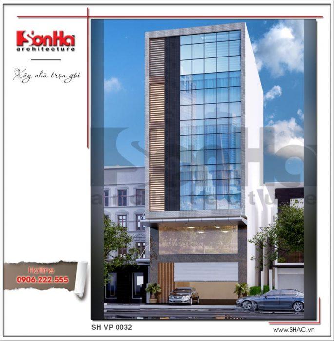 Mẫu Thiết kế kiến trúc tòa nhà văn phòng tại Hải Phòng sh vp 0032