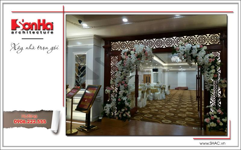 Thiết kế nội thất nhà hàng tiệc cưới phong cách cổ điển tại TD Plaza Hải Phòng - BCK 0046 18