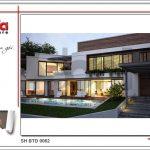 1 Thiết kế kiến trúc biệt thự hiện đại tại nước Lào sh btd 0062