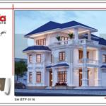 thiết kế kiến trúc biệt thự tân cổ điển đẹp sang trọng sh btp 0116