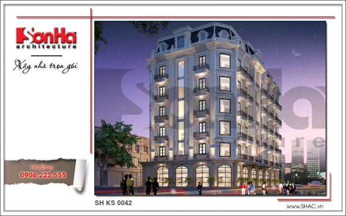 1 thiết kế kiến trúc khách sạn cổ điển sh ks 0042