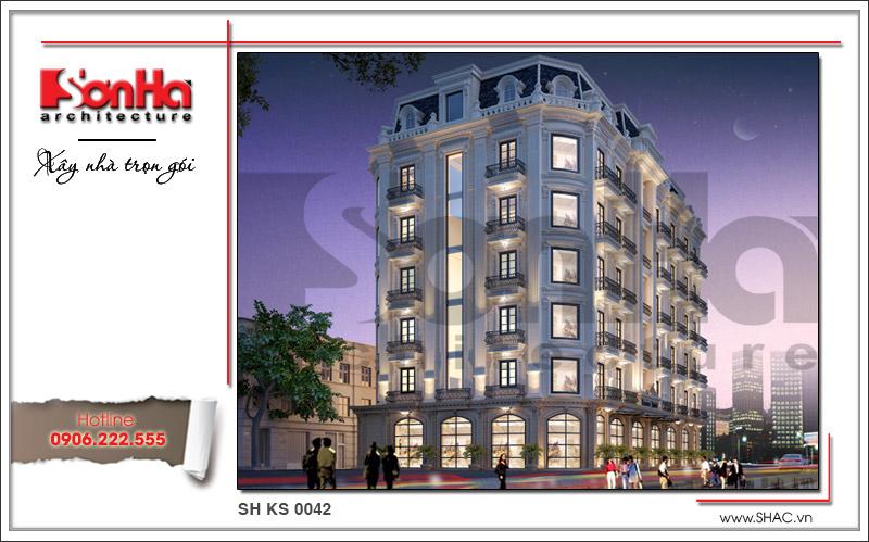 Mẫu thiết kế khách sạn cổ điển đẹp tiêu chuẩn 4 sao tại Quảng Ninh - SH KS 0042 1