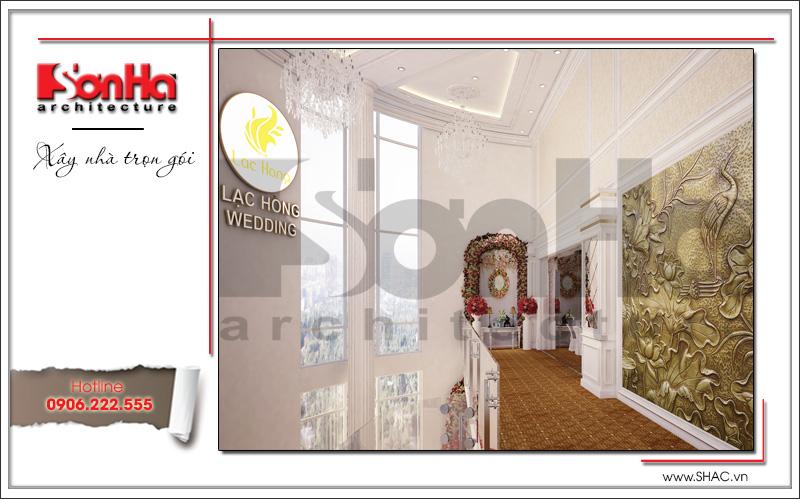 Thiết kế nội thất nhà hàng tiệc cưới phong cách cổ điển tại TD Plaza Hải Phòng - BCK 0046 10