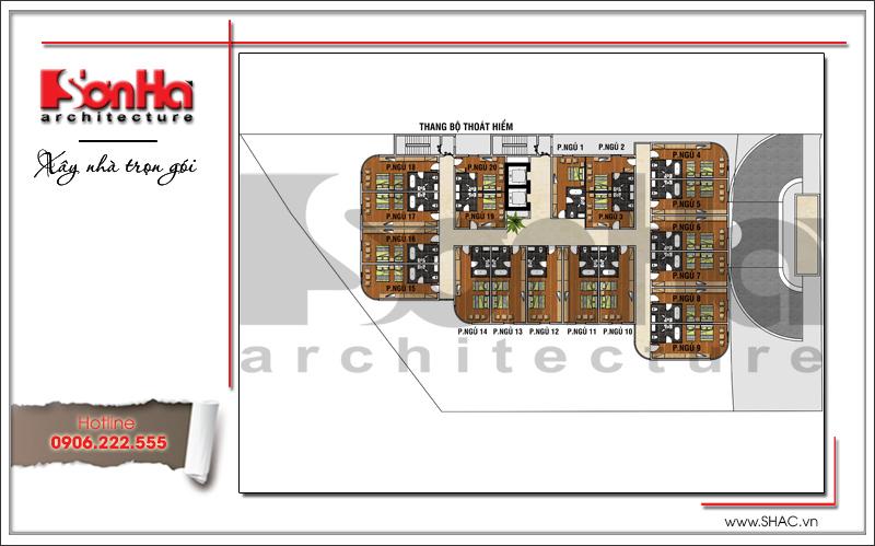 Mẫu khách sạn hiện đại đẹp thiết kế tiêu chuẩn 4 sao tại Phú Quốc (Kiên Giang) - SH KS 0043 10