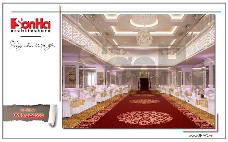 Thiết kế nội thất nhà hàng tiệc cưới phong cách cổ điển tại TD Plaza Hải Phòng - BCK 0046 11
