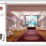 Thiết kế tầng 5 trung tâm tiệc cưới phong cách cổ điển tại Hải Phòng sh bck 0046