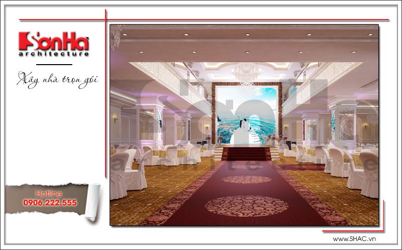 Thiết kế nội thất nhà hàng tiệc cưới phong cách cổ điển tại TD Plaza Hải Phòng - BCK 0046 12