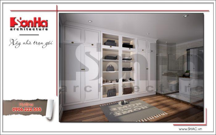 thiết kế phòng thay đồ của phòng ngủ biệt thự
