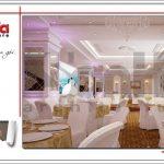 Thiết kế tầng 4 trung tâm tiệc cưới phong cách cổ điển tại Hải Phòng sh bck 0046