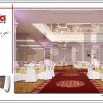Mẫu thiết kế hội trường tầng 5 trung tâm tiệc cưới phong cách cổ điển tại Hải Phòng sh bck 0046