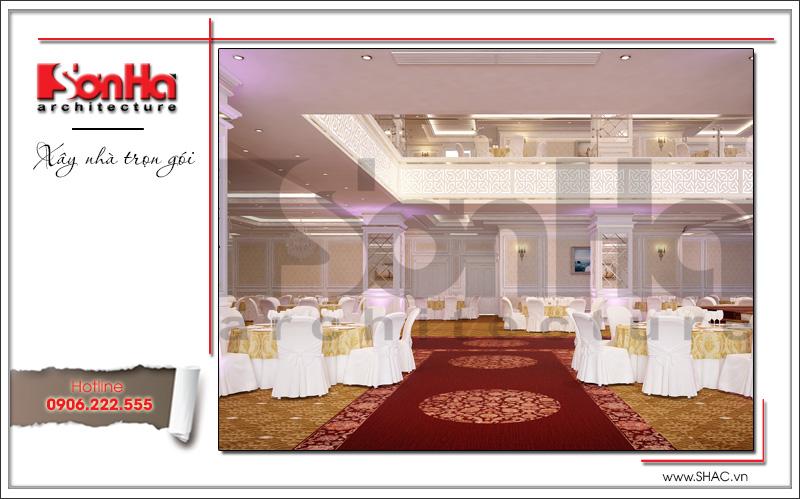 Thiết kế nội thất nhà hàng tiệc cưới phong cách cổ điển tại TD Plaza Hải Phòng - BCK 0046 14