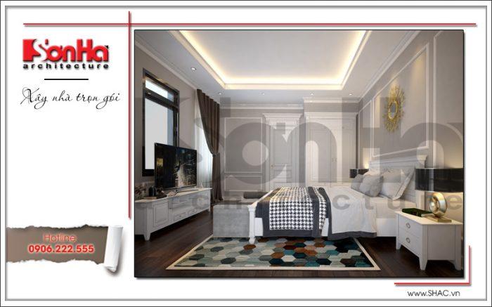 thiết kế thi công nội thất phòng ngủ biệt thự cổ điển
