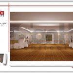 Thiết kế tầng lửng trung tâm tiệc cưới phong cách cổ điển tại Hải Phòng sh bck 0046