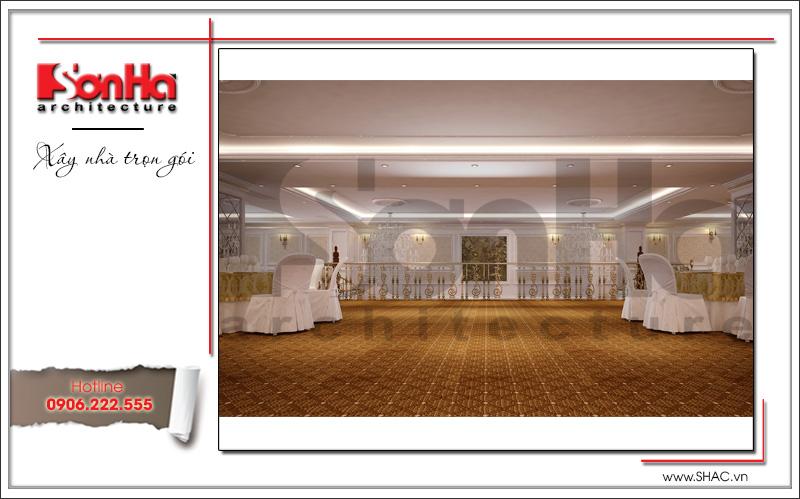 Thiết kế nội thất nhà hàng tiệc cưới phong cách cổ điển tại TD Plaza Hải Phòng - BCK 0046 15