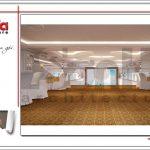 Mẫu Thiết kế nội thất tầng lửng trung tâm tiệc cưới phong cách cổ điển tại Hải Phòng sh bck 0046