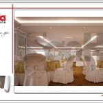 Thiết kế nội thất tầng lửng trung tâm tiệc cưới phong cách cổ điển tại Hải Phòng sh bck 0046