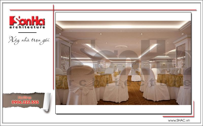 Thiết kế nội thất nhà hàng tiệc cưới phong cách cổ điển tại TD Plaza Hải Phòng - BCK 0046 17