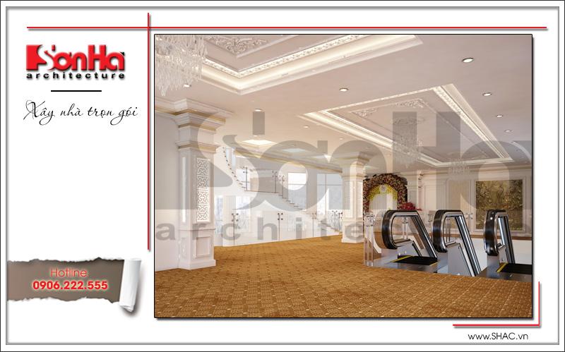 Thiết kế nội thất nhà hàng tiệc cưới phong cách cổ điển tại TD Plaza Hải Phòng - BCK 0046 2