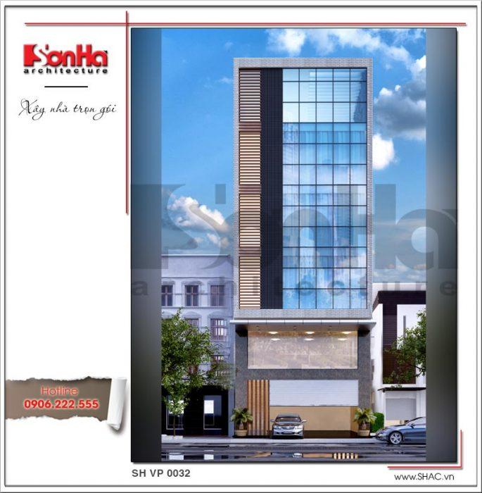 Mẫu Thiết kế tòa nhà văn phòng tại Hải Phòng sh vp 0032