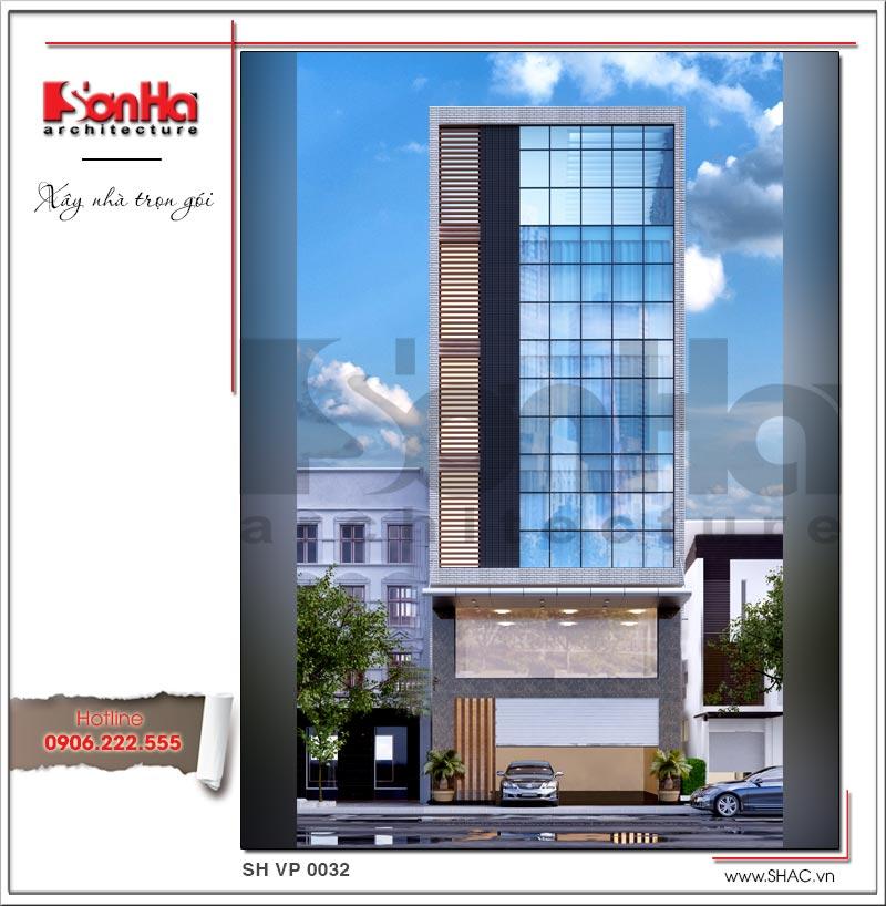 Mẫu thiết kế tòa nhà văn phòng hiện đại nội thất đẹp tại Hải Phòng – SH VP 0032 1