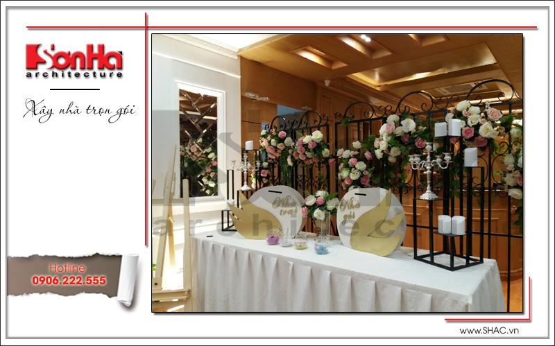 Thiết kế nội thất nhà hàng tiệc cưới phong cách cổ điển tại TD Plaza Hải Phòng - BCK 0046 19