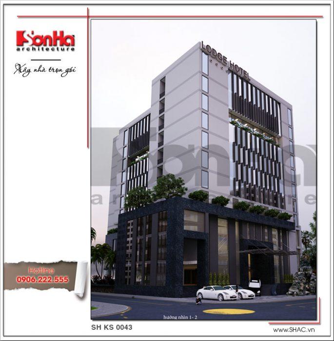 2 mẫu thiết kế kiến trúc khách sạn đẹp sang trọng tại Phú Quốc sh ks 0043