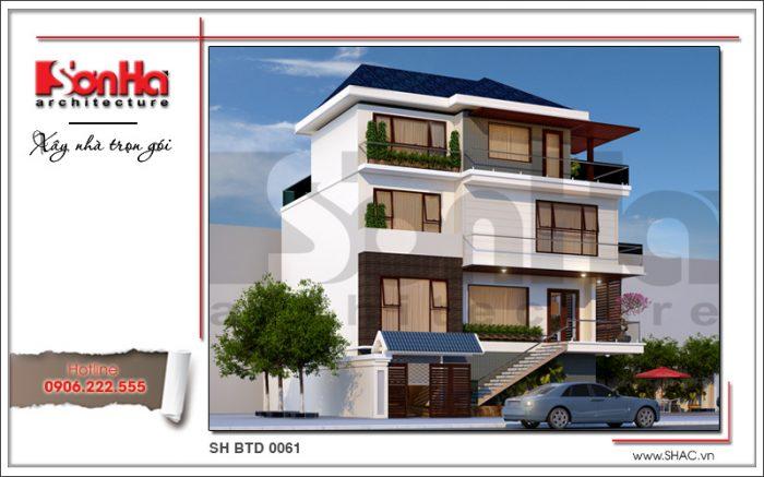 thiết kế biệt thự hiện đại đẹp sang trọng phương án 2 flc sh btd 0061
