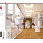 Thiết kế nội thất sảnh tầng 4 trung tâm tiệc cưới phong cách cổ điển tại Hải Phòng sh bck 0046