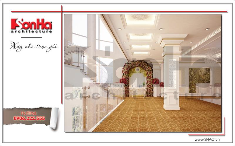 Thiết kế nội thất nhà hàng tiệc cưới phong cách cổ điển tại TD Plaza Hải Phòng - BCK 0046 3