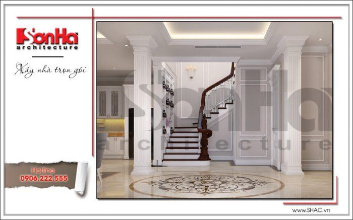 thiết kế nội thất cầu thang biệt thự vinhomes imperia hải phòng