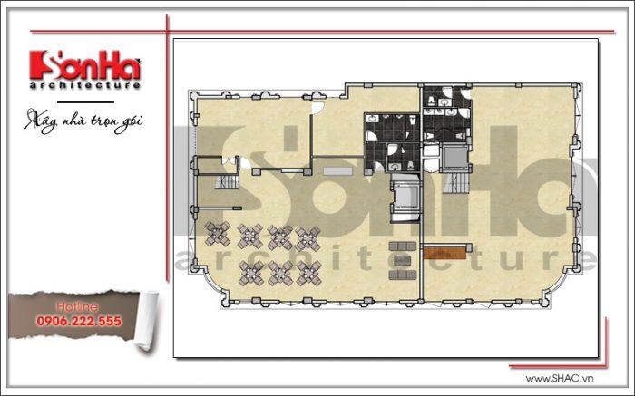 3 mặt bằng công năng tầng 1 khách sạn cổ điển sang trọng sh ks 0042