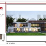 3 Thiết kế kiến trúc mặt tiền biệt thự hiện đại tại Lào sh btd 0062