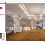 Mẫu Thiết kế sảnh tầng 4 trung tâm tiệc cưới phong cách cổ điển tại Hải Phòng sh bck 0046