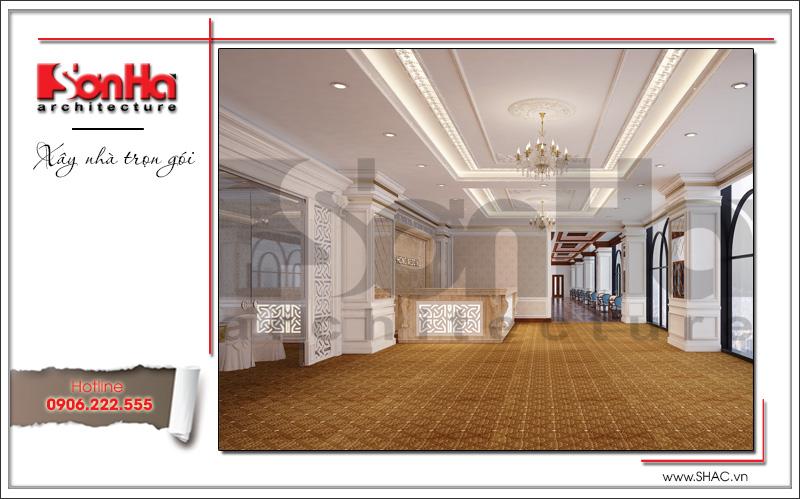 Thiết kế nội thất nhà hàng tiệc cưới phong cách cổ điển tại TD Plaza Hải Phòng - BCK 0046 4