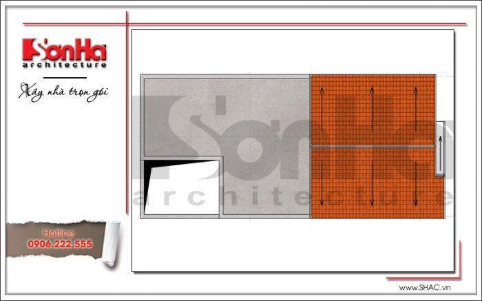 mặt bằng công năng mais nhà phố cổ điển pháp sh nop 0150