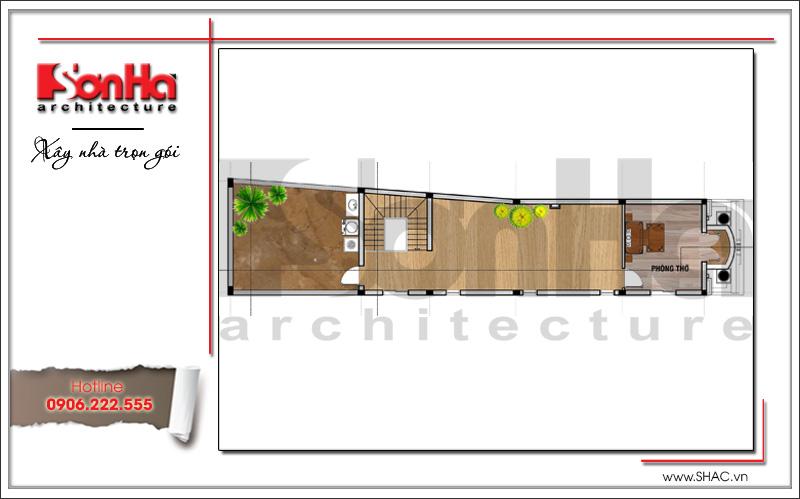 Mẫu thiết kế nhà phố kiến trúc cổ điển mặt tiền 5m tại Hải Dương - SH NOP 0151 9
