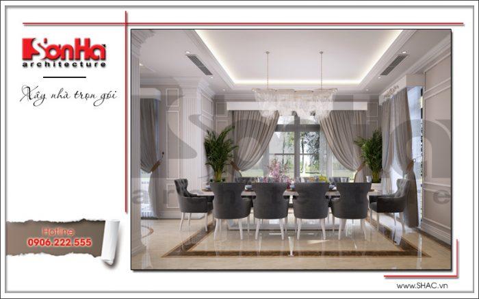 thiết kế nội thất phòng ăn cổ điển dành cho biệt thự vinhomes imperia hải phòng
