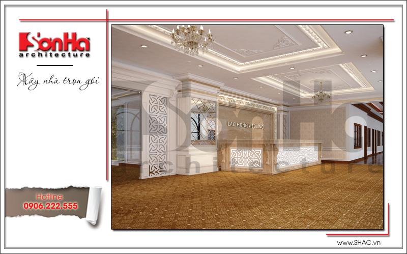 Thiết kế nội thất nhà hàng tiệc cưới phong cách cổ điển tại TD Plaza Hải Phòng - BCK 0046 5