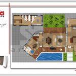 5 Mặt bằng công năng tầng 1 biệt thự hiện đại tại Lào sh btd 0062