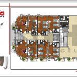 5 mặt bằng công năng tầng 3 khách sạn cổ điển sang trọng sh ks 0042