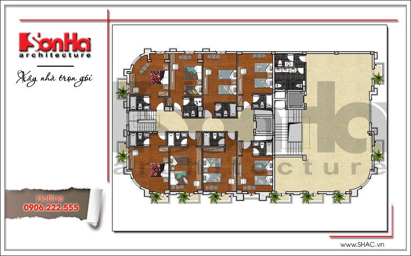 Mẫu thiết kế khách sạn cổ điển đẹp tiêu chuẩn 4 sao tại Quảng Ninh - SH KS 0042 5