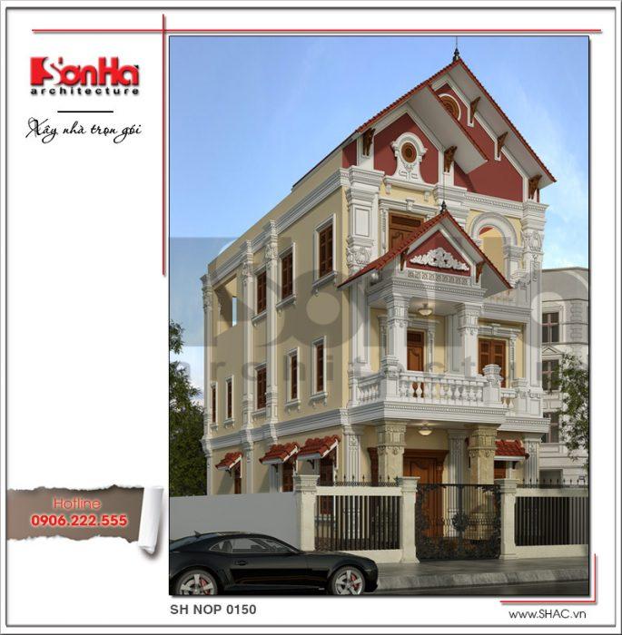 5 thiết kế nhà ống kiến trúc pháp cổ điển sang trọng sh nop 0150