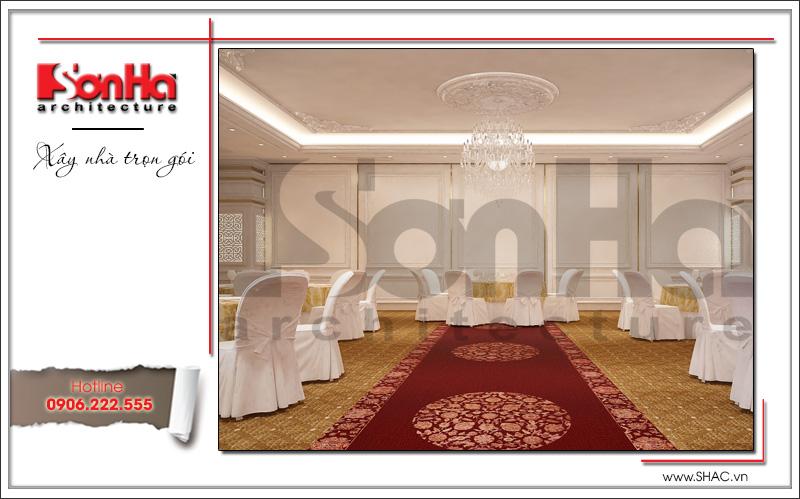 Thiết kế nội thất nhà hàng tiệc cưới phong cách cổ điển tại TD Plaza Hải Phòng - BCK 0046 6