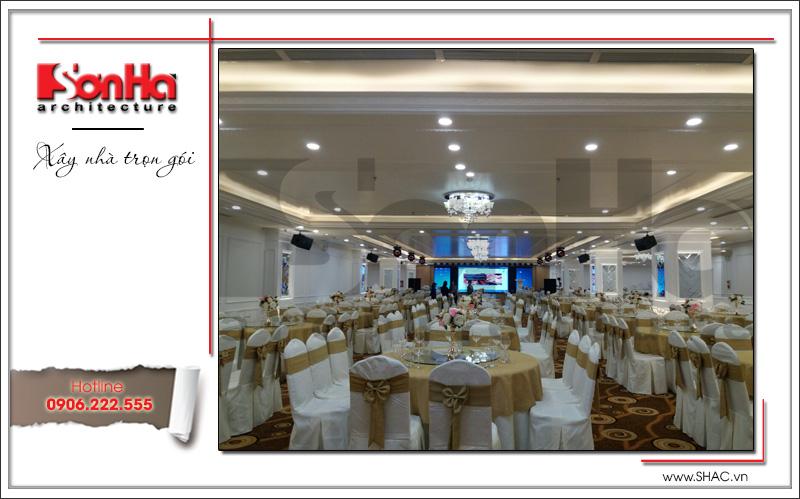 Thiết kế nội thất nhà hàng tiệc cưới phong cách cổ điển tại TD Plaza Hải Phòng - BCK 0046 22