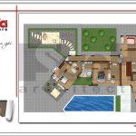 6 Mặt bằng công năng tầng 2 biệt thự hiện đại tại Lào sh btd 0062