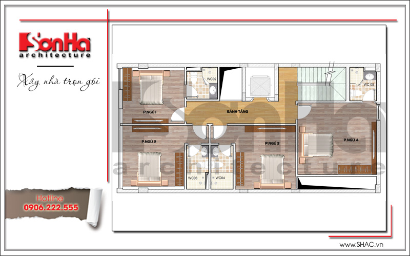 Mẫu thiết kế tòa nhà văn phòng hiện đại nội thất đẹp tại Hải Phòng – SH VP 0032 7